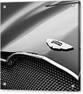 1953 Aston Martin Db2-4 Bertone Roadster Hood Emblem Acrylic Print by Jill Reger