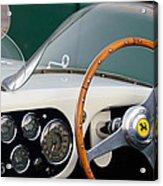 1953 Ferrari 340 Mm Lemans  Spyder Steering Wheel Emblem Acrylic Print