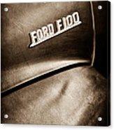 1953 Ford F-100 Pickup Truck Emblem Acrylic Print