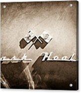 1953 Nash-healey Roadster Emblem Acrylic Print