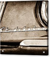1953 Studebaker Champion Starliner Side Emblem Acrylic Print