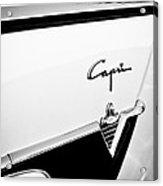 1954 Lincoln Capri Convertible Emblem Acrylic Print