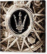 1954 Maserati A6 Gcs Wheel Rim Emblem Acrylic Print