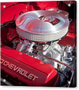 1955 Chevrolet 210 Engine Acrylic Print
