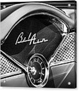 1955 Chevrolet Belair Dashboard Emblem Clock Acrylic Print