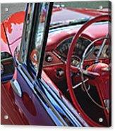 1955 Chevrolet Belair Steering Wheel Acrylic Print