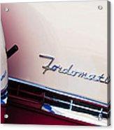 1955 Ford Crown Victoria Fordomatic Emblem Acrylic Print