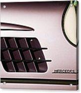 1955 Mercedes-benz Gullwing 300 Sl Emblem Acrylic Print