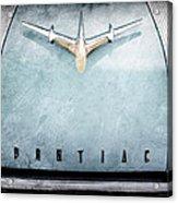 1955 Pontiac Safari Hood Ornament - Emblem Acrylic Print