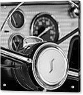 1955 Studebaker President Steering Wheel Emblem Acrylic Print by Jill Reger