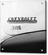 1956 Chevrolet 3100 Pickup Truck Emblem Acrylic Print