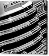 1956 Chevrolet 3100 Pickup Truck Grille Emblem Acrylic Print