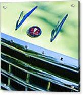 1956 Hudson Rambler Station Wagon Grille Emblem - Hood Ornament Acrylic Print