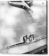 1956 Mercury Monterey Hood Ornament - Emblem Acrylic Print