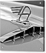 1957 Austin Cambrian 4 Door Saloon Hood Ornament Acrylic Print