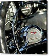 1957 Chevrolet Belair Steering Wheel Acrylic Print