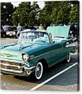 1957 Chevy Bel Air Green Acrylic Print