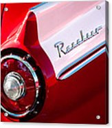 1957 Ford Custom 300 Series Ranchero Taillight Emblem Acrylic Print