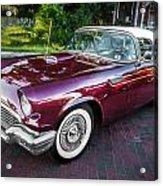 1957 Ford Thunderbird Convertible Painted    Acrylic Print