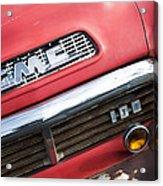 1957 Gmc V8 Pickup Truck Grille Emblem Acrylic Print