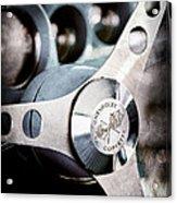 1958 Chevrolet Corvette Steering Wheel Emblem Acrylic Print