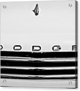 1958 Dodge Sweptside Truck Grille Acrylic Print