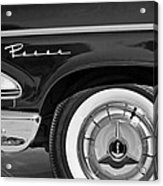 1958 Edsel Pacer Wheel Emblem Acrylic Print