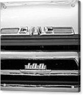 1958 Gmc Series 101-s Pickup Truck Grille Emblem Acrylic Print