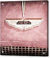 1959 Aston Martin Db Mk IIib Drophead Coupe Emblem Acrylic Print