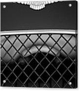 1959 Aston Martin Jaguar C-type Roadster Hood Emblem Acrylic Print