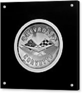 1960 Chevrolet Corvette Roadster Emblem Acrylic Print by Jill Reger