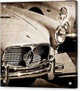 1960 Maserati Grille Emblem Acrylic Print by Jill Reger