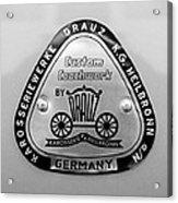 1960 Porsche 356 B 1600 Super Roadster Emblem Acrylic Print