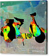 1960s Peace Scooter Acrylic Print