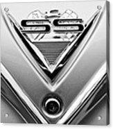 1961 Chevrolet Ss Impala Emblem Acrylic Print