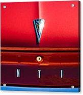 1961 Pontiac Catalina Emblem Acrylic Print
