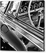 1962 Dodge Polara 500 Side Emblem - Steering Wheel Acrylic Print