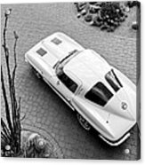 1963 Chevrolet Corvette Split Window -440bw Acrylic Print