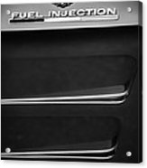 1963 Chevrolet Corvette Sting Ray Fuel-injection Split Window Coupe Emblem Acrylic Print