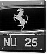 1963 Ferrari 250 Gto Scaglietti Berlinetta Grille Emblem Acrylic Print