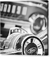 1963 Ford Falcon Futura Convertible Steering Wheel Emblem Acrylic Print