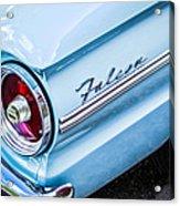 1963 Ford Falcon Futura Convertible Taillight Emblem Acrylic Print by Jill Reger