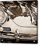 1963 Porsche 356 B Cabriolet Hood Emblem Acrylic Print