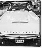 1964 Ford Thunderbird Painted Bw  Acrylic Print