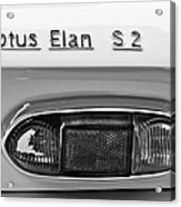 1965 Lotus Elan S2 Taillight Emblem Acrylic Print by Jill Reger