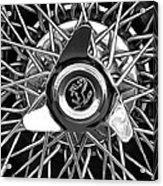 1966 Ferrari 330 Gtc Coupe Wheel Rim Emblem Acrylic Print