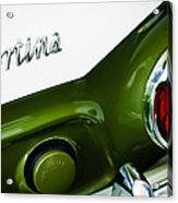 1966 Lotus Cortina Mk1 Taillight Emblem Acrylic Print