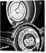 1967 Chevrolet Camaro  Ss Steering Wheel Emblem Emblem Acrylic Print