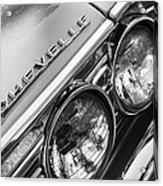 1967 Chevrolet Chevelle Malibu Head Light Emblem Acrylic Print