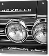 1967 Chevrolet Chevelle Super Sport Emblem Acrylic Print